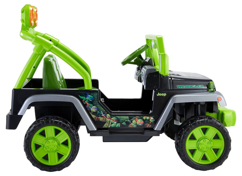 Amazon.com: Fisher-Price Power Wheels Teenage Mutant Ninja Turtle Jeep Wrangler: Toys & Games