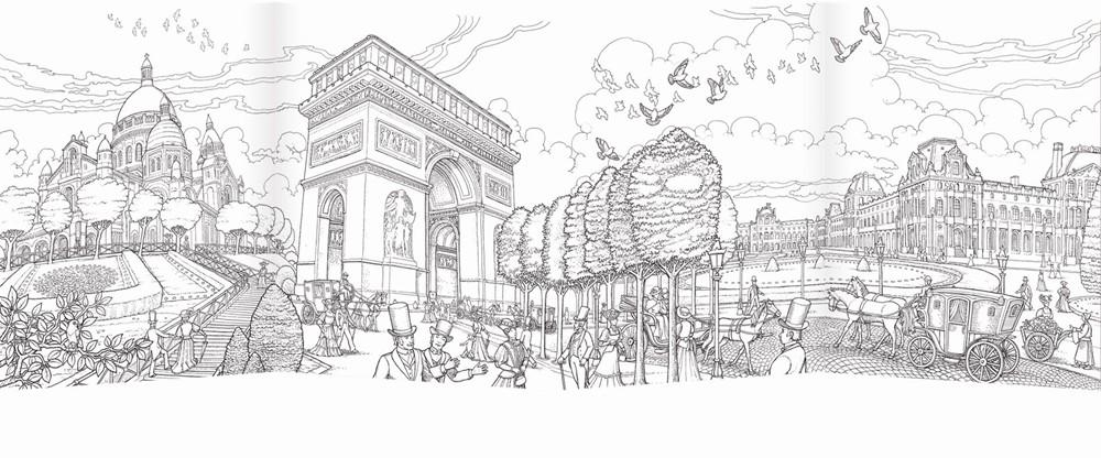 Coloring Paris: Featuring the artwork of celebrated