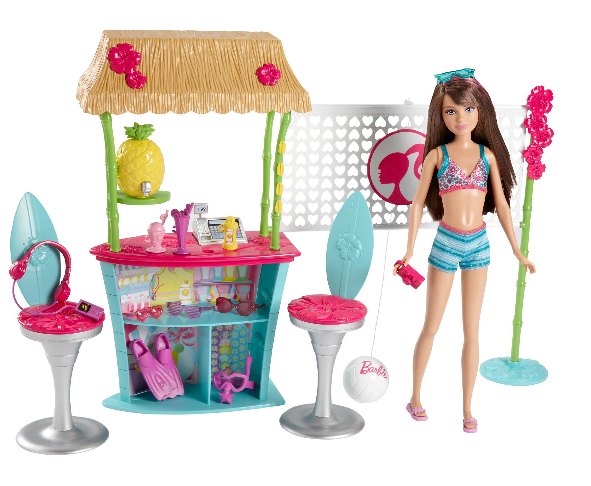 Amazon.com: Barbie Sisters Skipper Doll and Tiki Hut