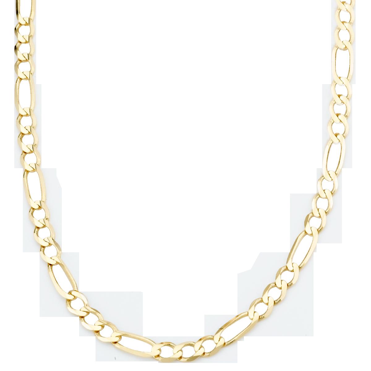s 14k yellow gold 3 1mm figaro chain