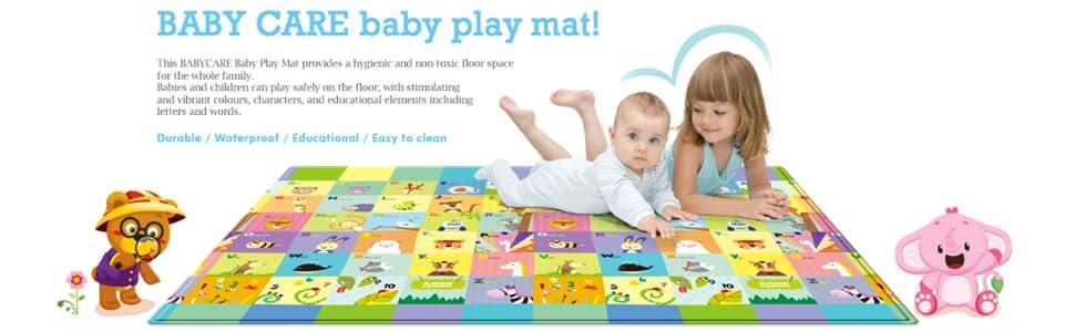 Amazon.com : Baby Care Play Mat - Pingko Friends (Large ...