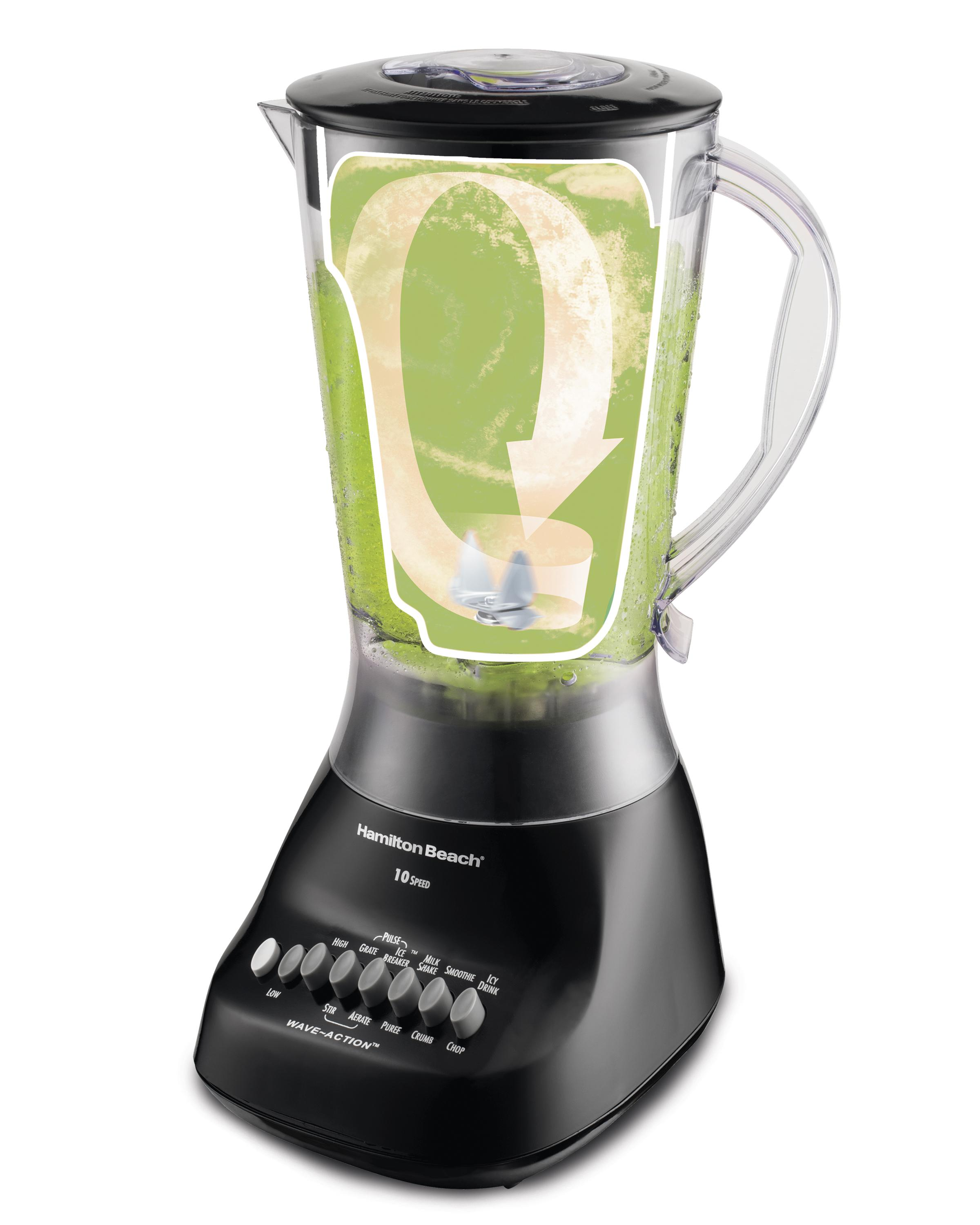 Hamilton beach 50163 wave maker 10 speed for Kitchen perfected blender
