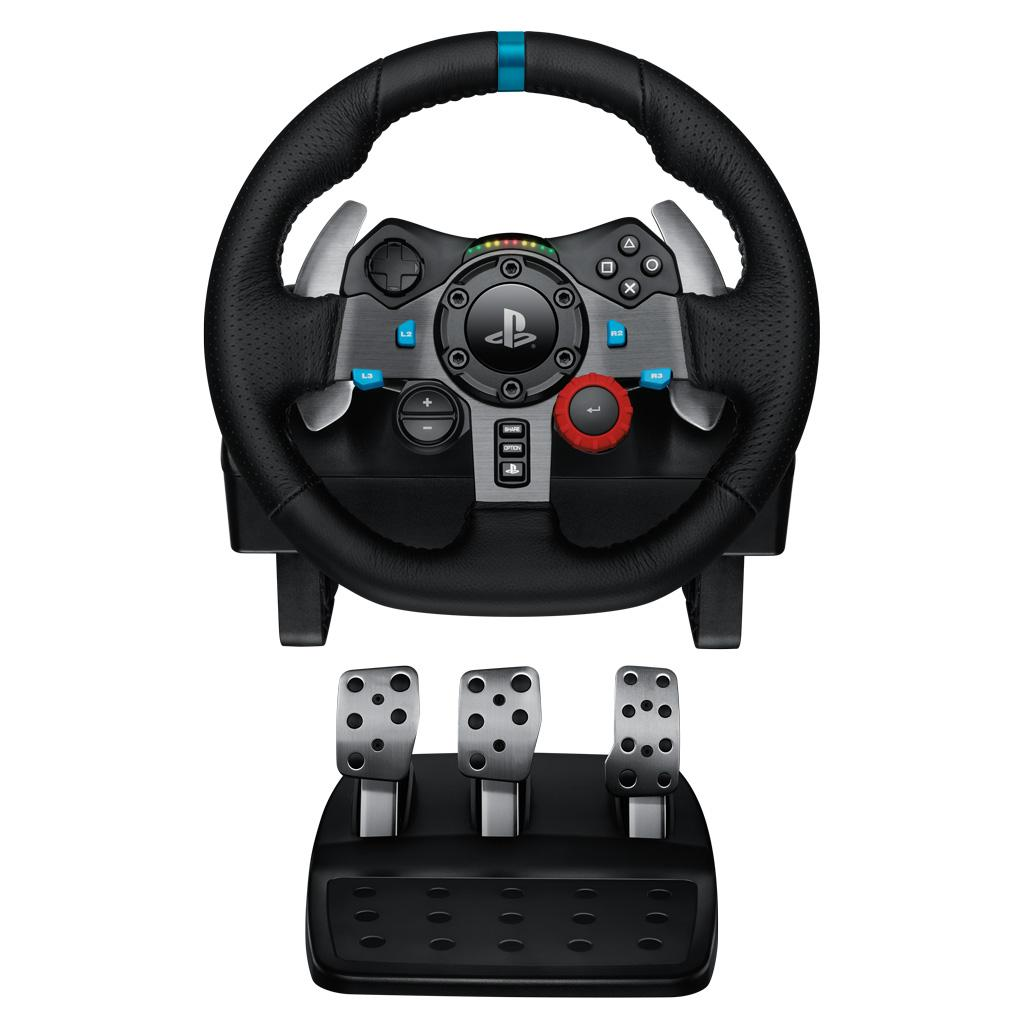 racing car logitech g29 gaming steering wheel race ps3 ps4. Black Bedroom Furniture Sets. Home Design Ideas