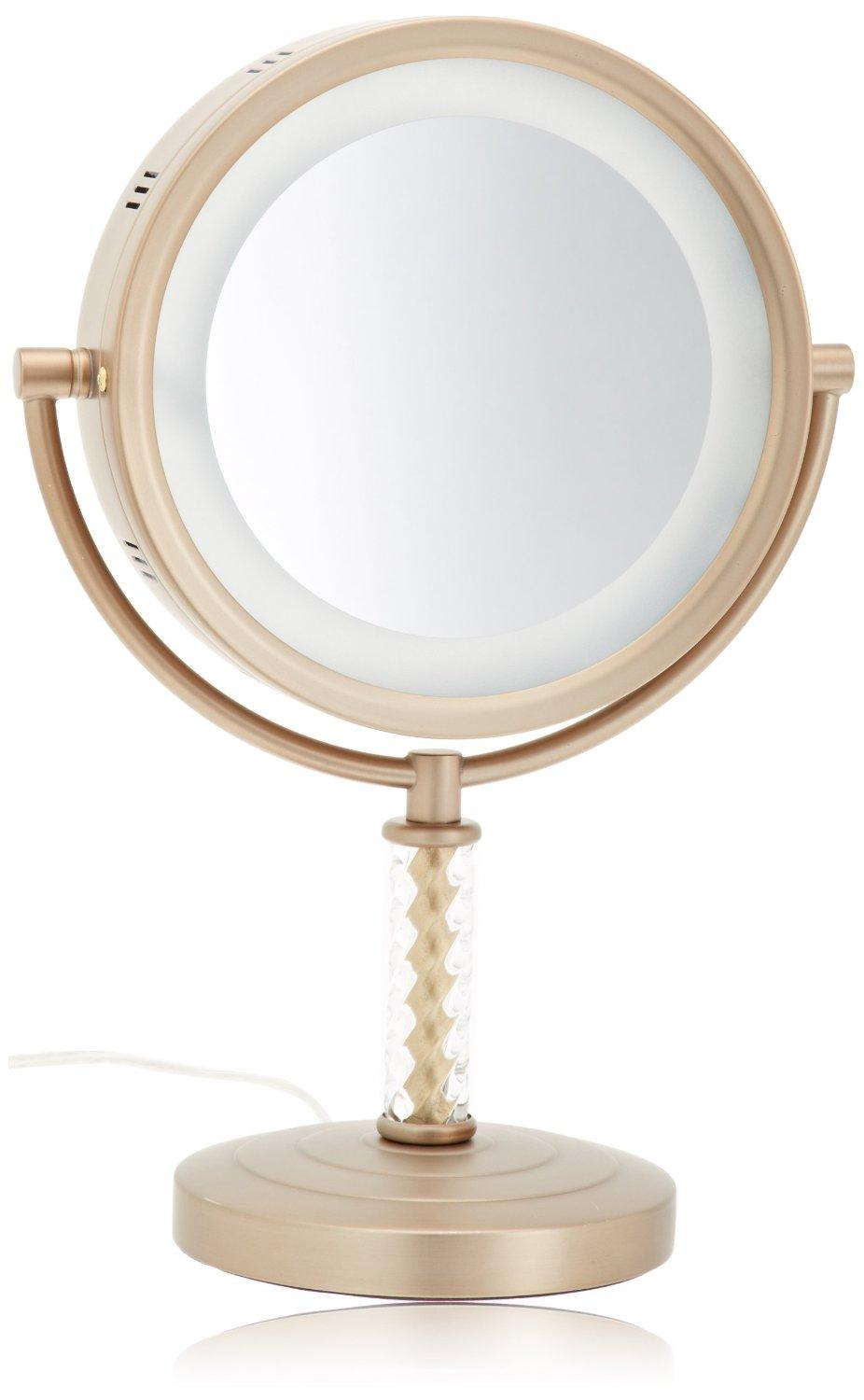 jerdon hl856bc 8 inch halo lighted vanity mirror with 6x magnific. Black Bedroom Furniture Sets. Home Design Ideas