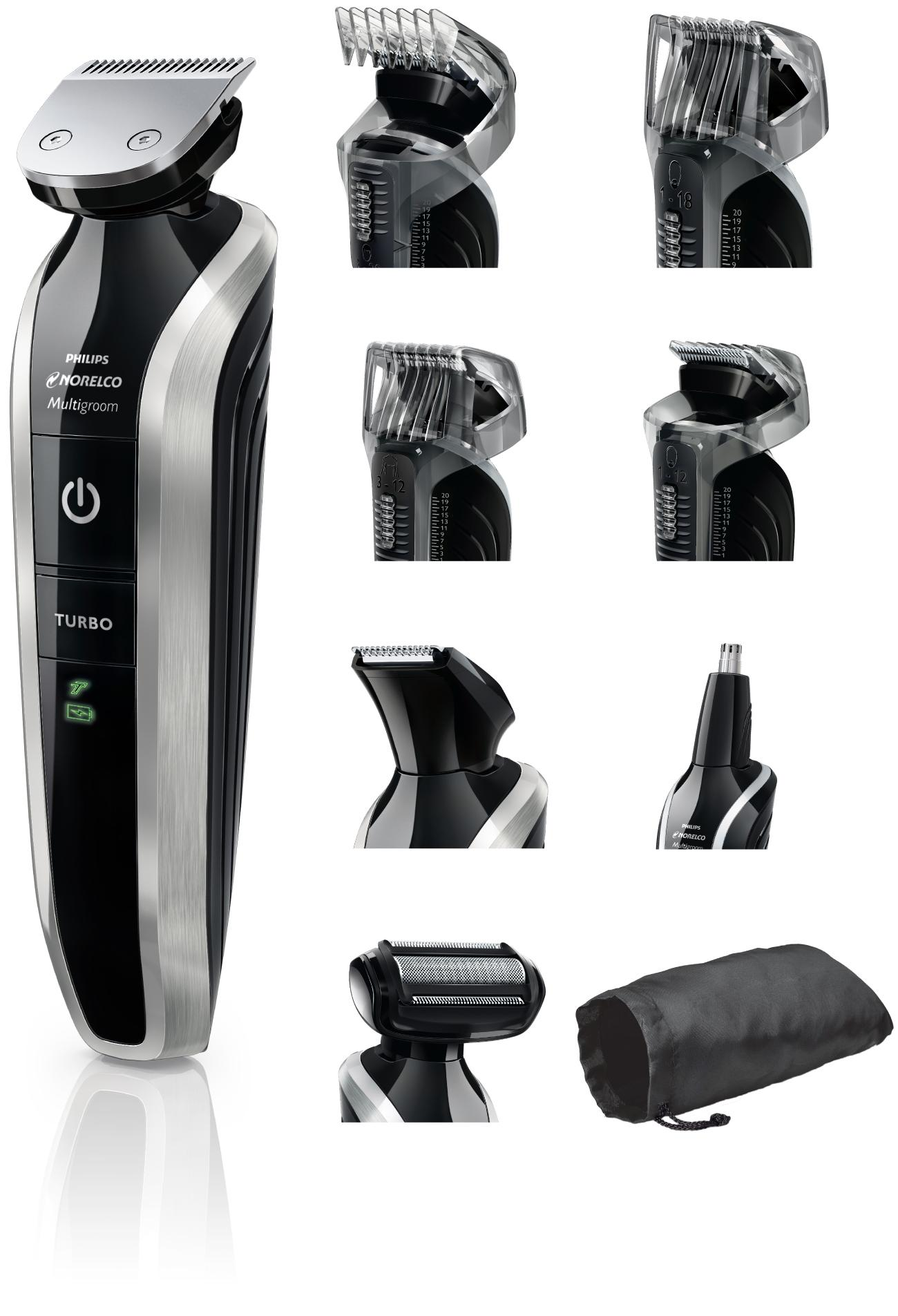 philips norelco multigroom series 7100 8 attachments qg3390 beauty. Black Bedroom Furniture Sets. Home Design Ideas