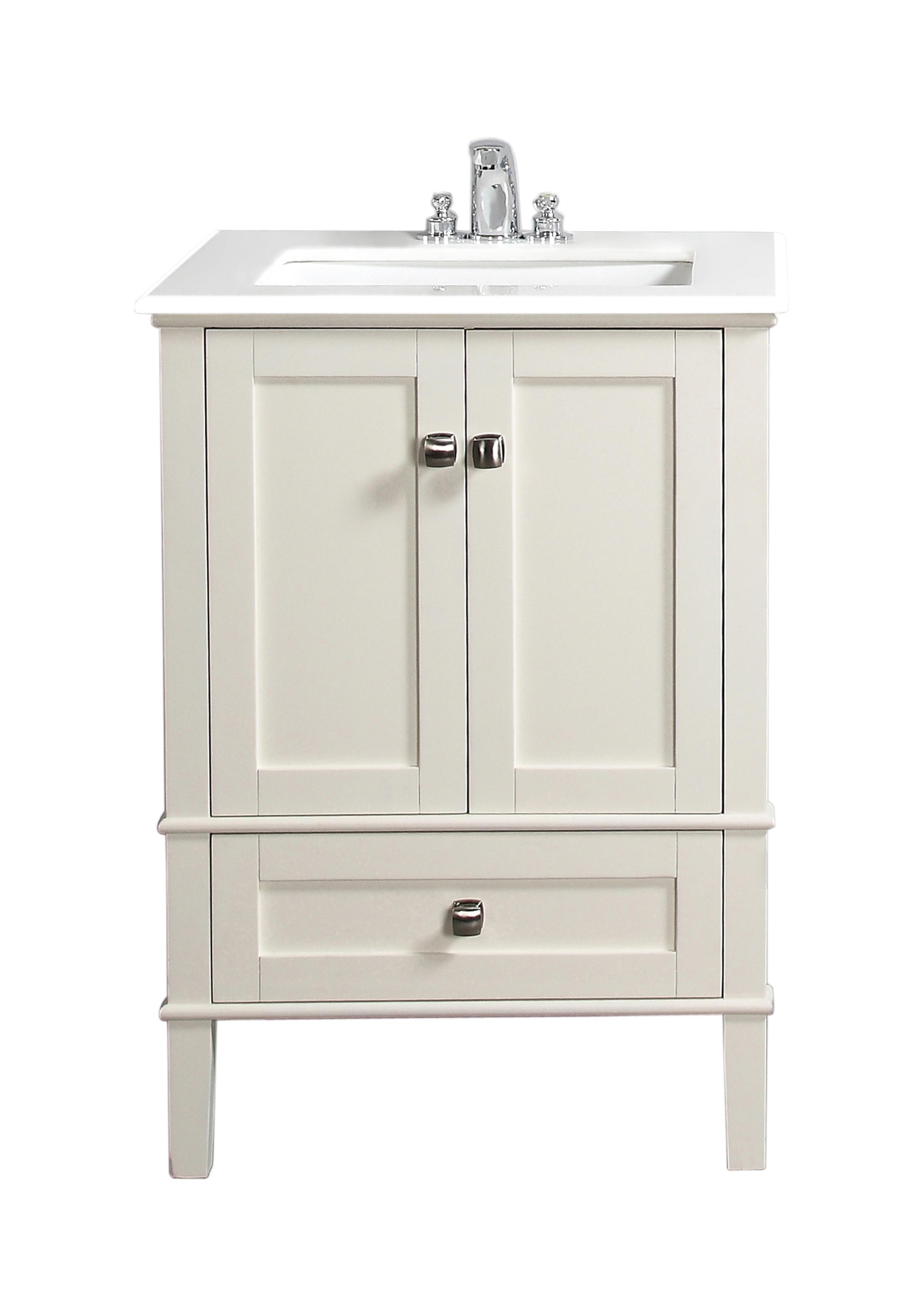 simpli home chelsea 24 bath vanity soft white bathroom. Black Bedroom Furniture Sets. Home Design Ideas