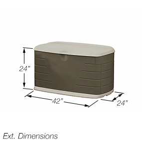 Amazon Com Rubbermaid 5f21 Deck Box With Seat Patio