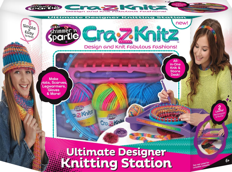 Amazon Com Cra Z Art Cra Z Knitz Knitting Station Toys