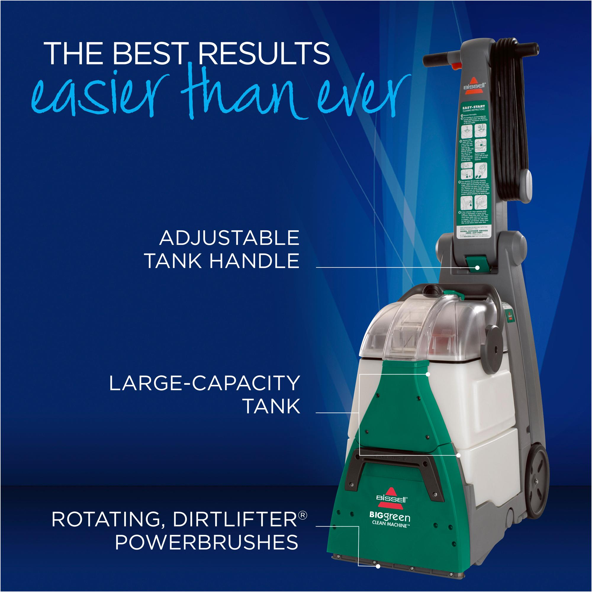 how to use bissell green machine
