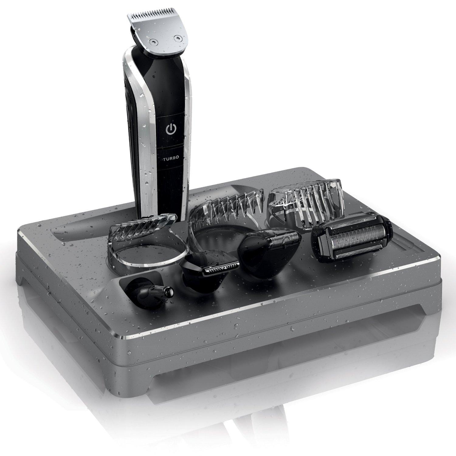 philips norelco multigroom 7100 all in one trimmer with 8 attachments model qg ebay. Black Bedroom Furniture Sets. Home Design Ideas