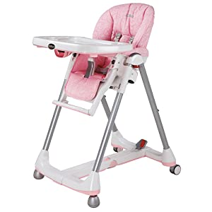 high chair, dining, baby, toddler, recline, height adjustment, wheels