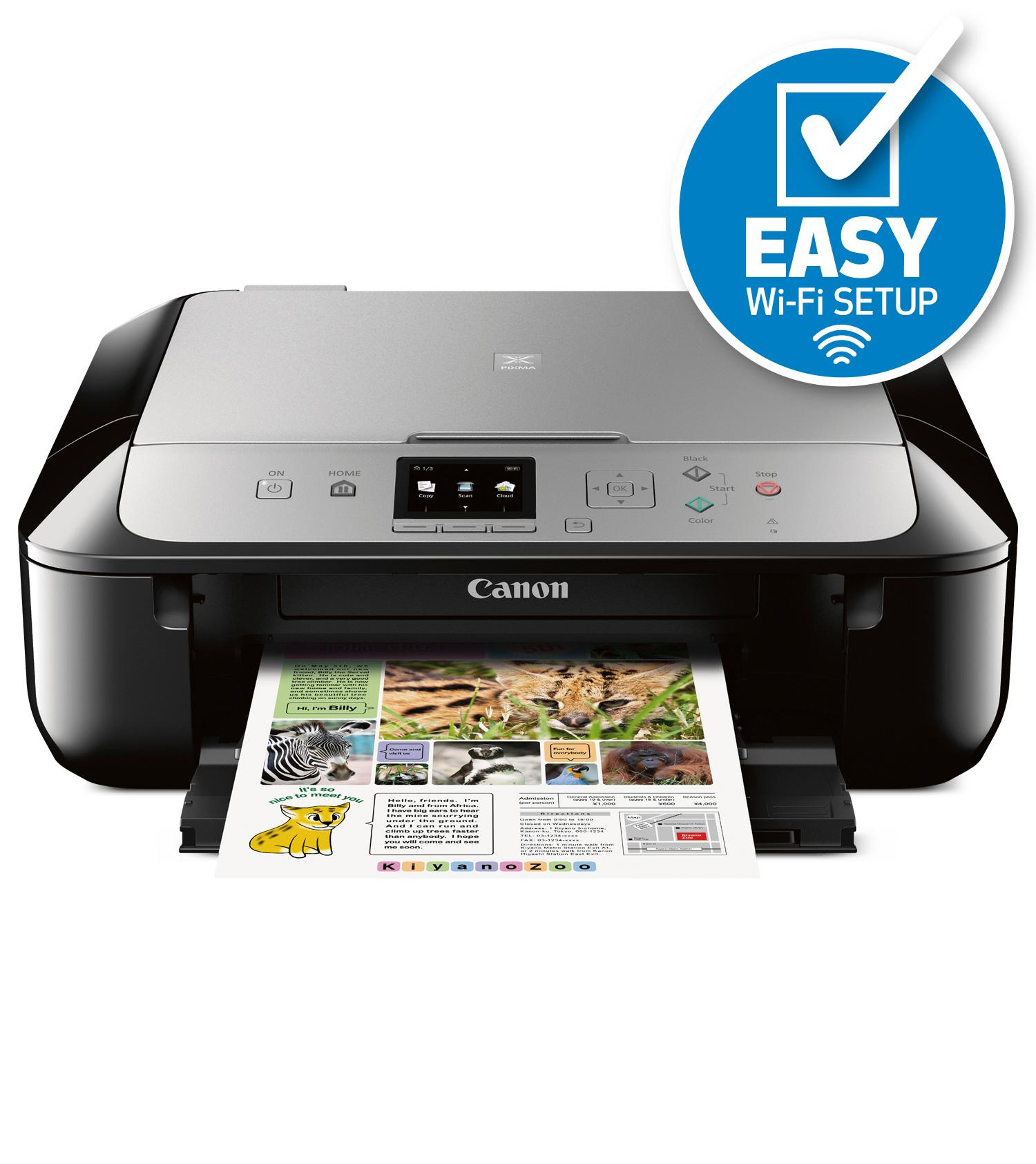 Canon Pixma Mg5721 Wireless All In One Inkjet Printer With
