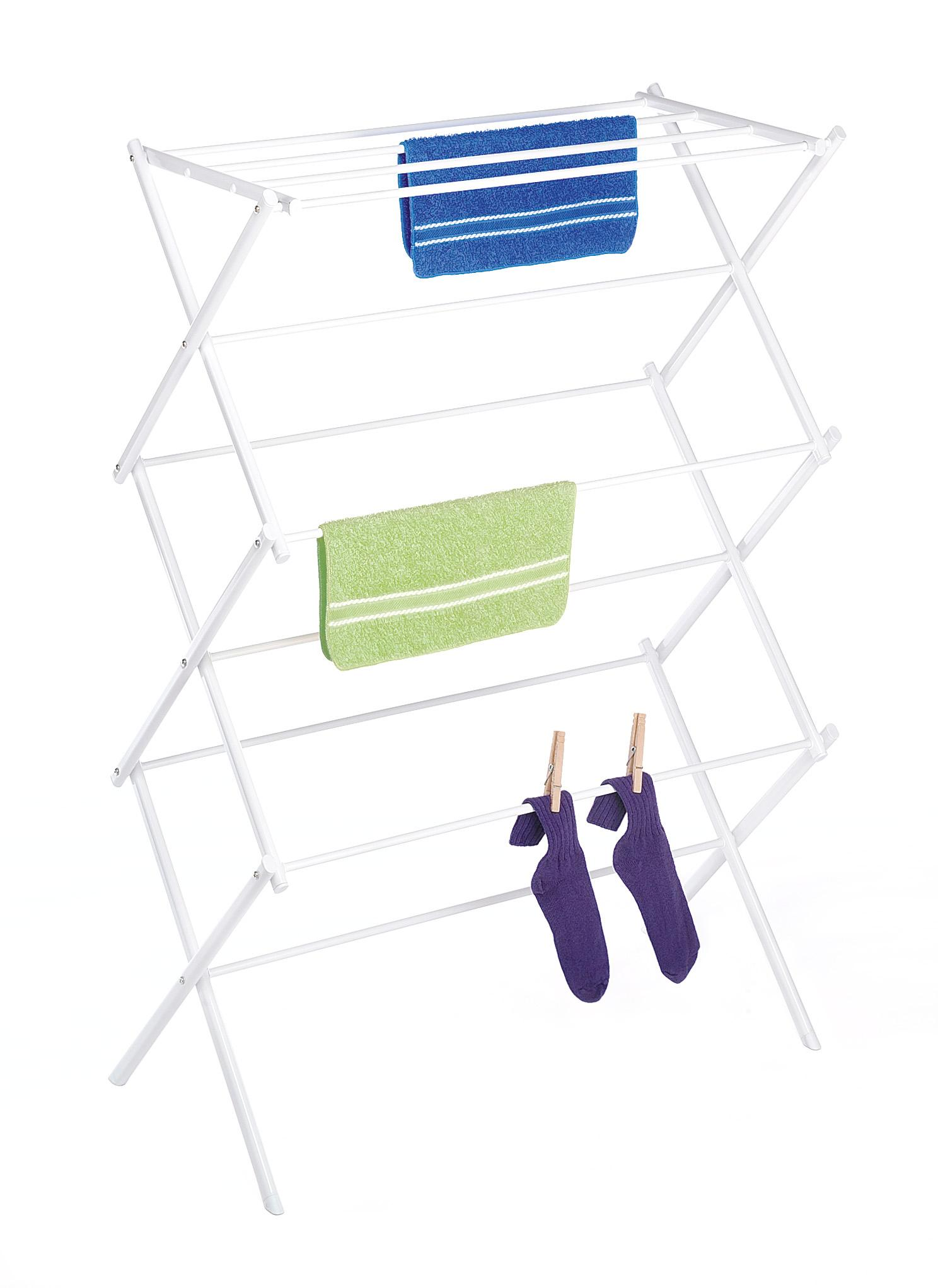 whitmor 6023 741 folding clothes drying rack white. Black Bedroom Furniture Sets. Home Design Ideas