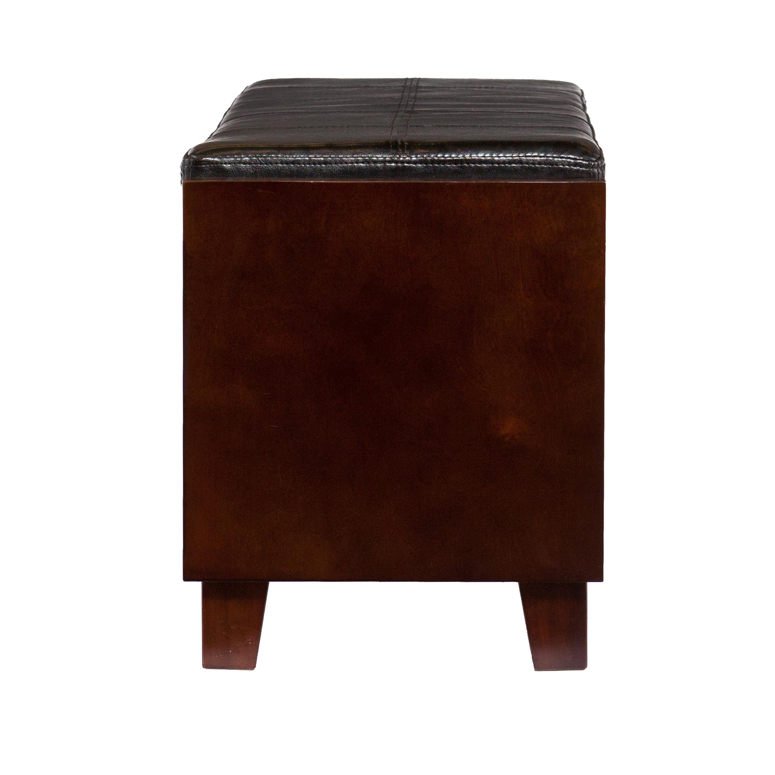 amazon com sei flynn 2 drawer storage bench kitchen dining