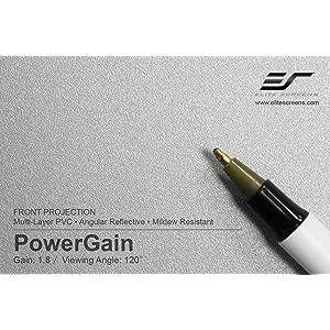Power gain projection screen, power gain, power gain screen material, projection screen material
