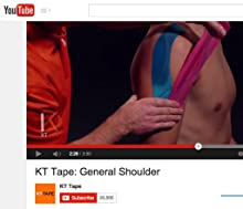 how to put on kt tape step by step youtube
