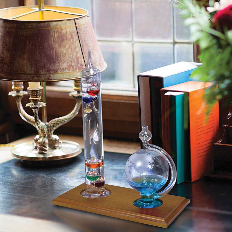 Amazon.com - AcuRite 00795A2 Galileo Thermometer with Glass Globe ...