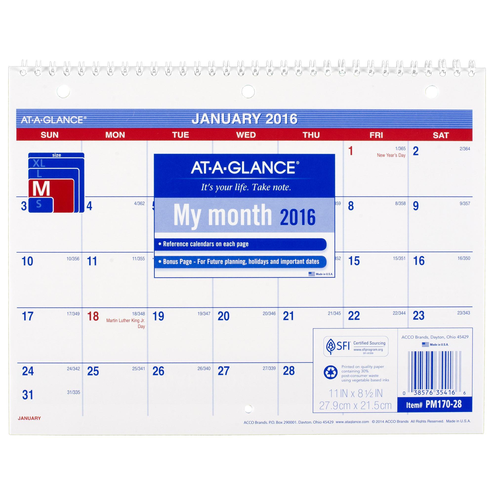 Table Calendar Size : Amazon at a glance monthly desk wall calendar