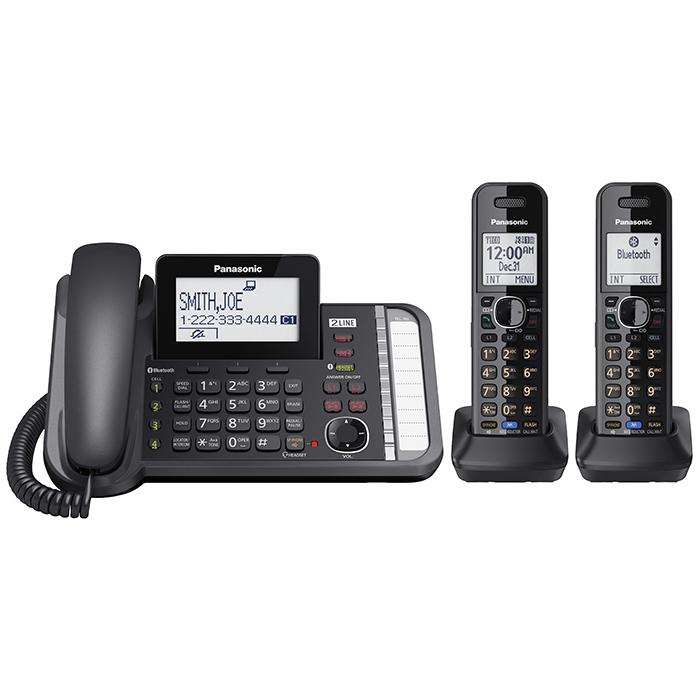 Amazon.com: Panasonic KX-TG9582B Link2Cell DECT_6.0 2-Handset 2 ...