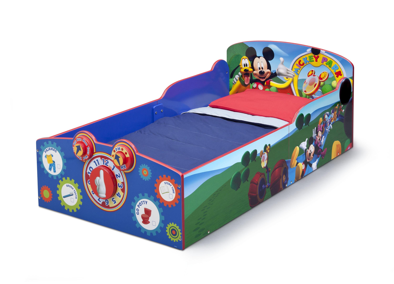 Amazon.com : Delta Children Interactive Wood Toddler Bed ...