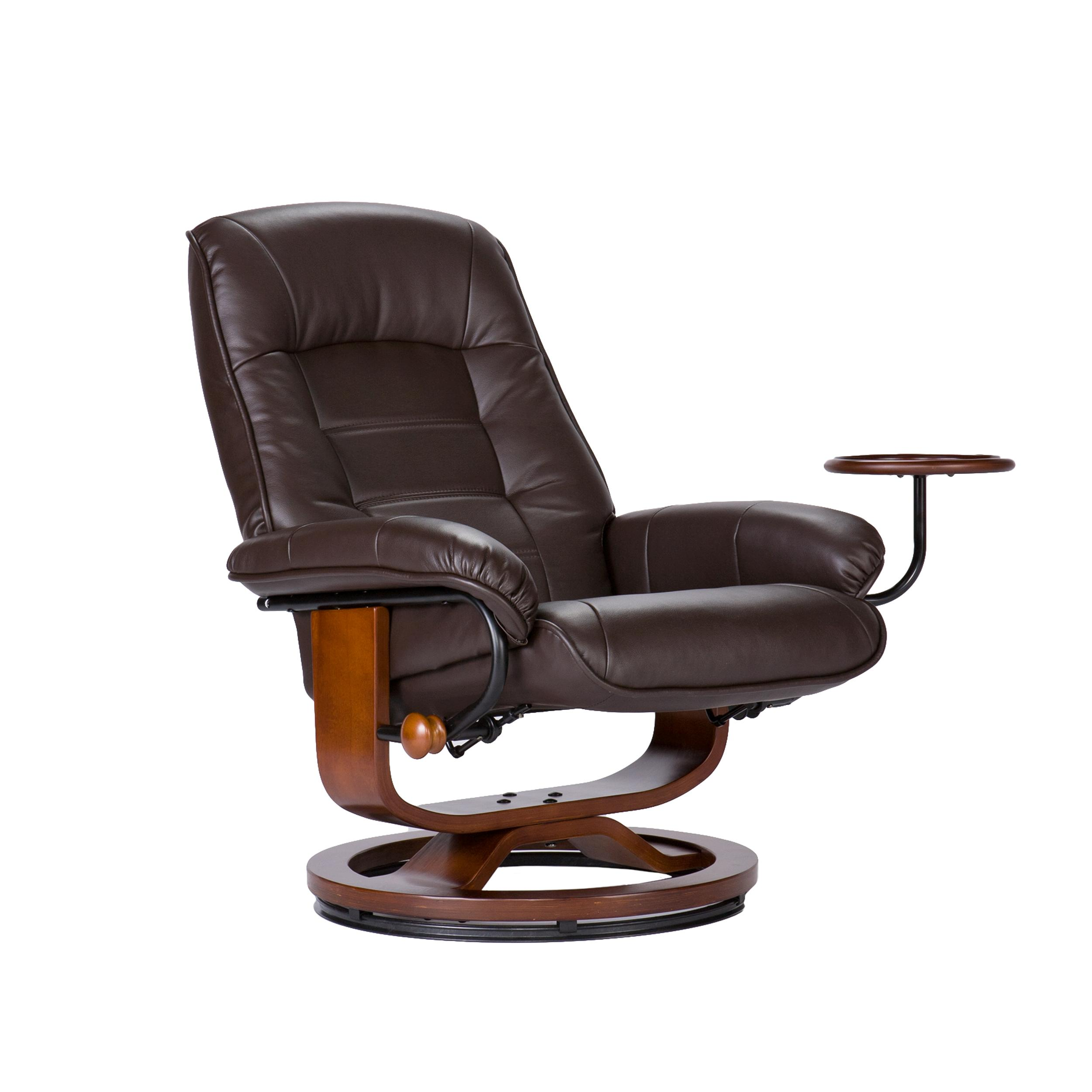 southern enterprises leather recliner with side table and