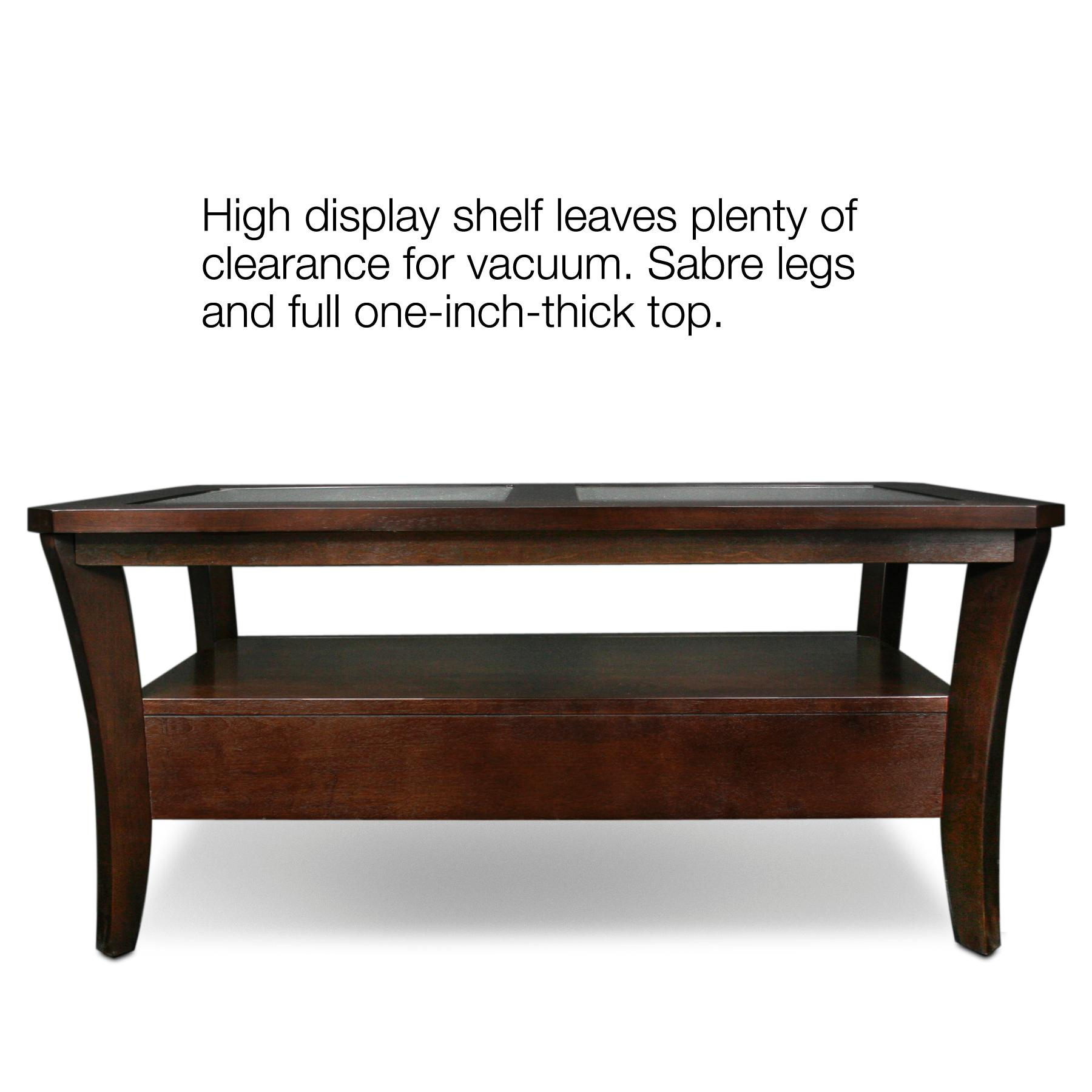 Leick furniture boa collection glass top two for Coffee tables amazon