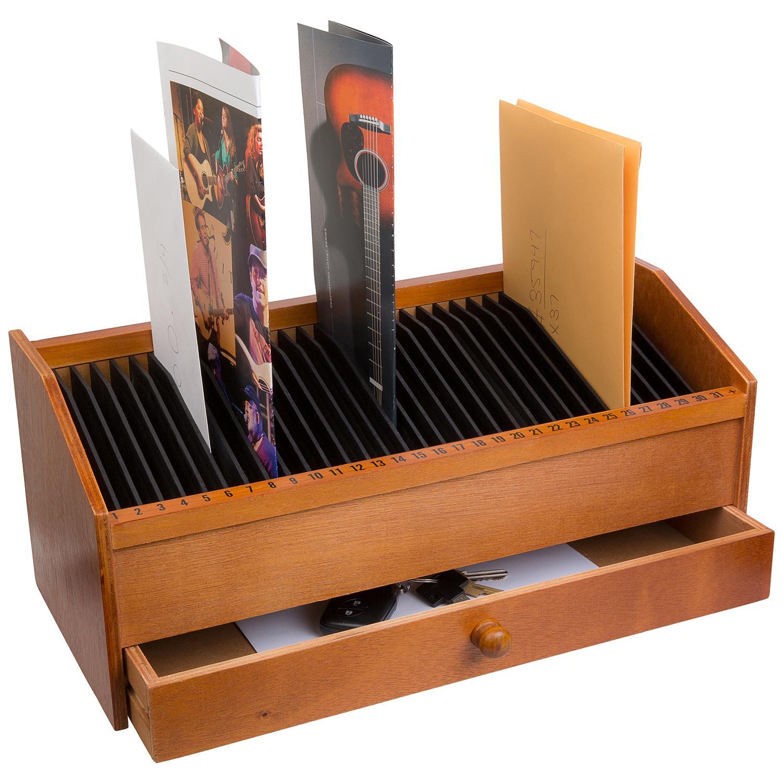31 slot wooden bill letter organizer with. Black Bedroom Furniture Sets. Home Design Ideas