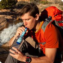 Lifestraw Personal Water Filter weighs just 2 oz. Great for hiking & camping.