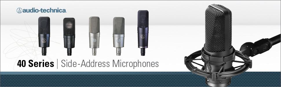 audio-technica, a-t, audio-technica microphones, audio-technica mics, audio-technica 40 series