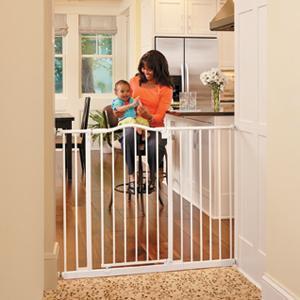 baby safety gate; pressure mount gate; home decor gate; metal gate