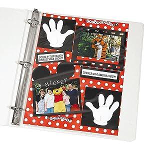 "Memory Book 8-1/2"" x 11"" Scrapbook Page Protectors"