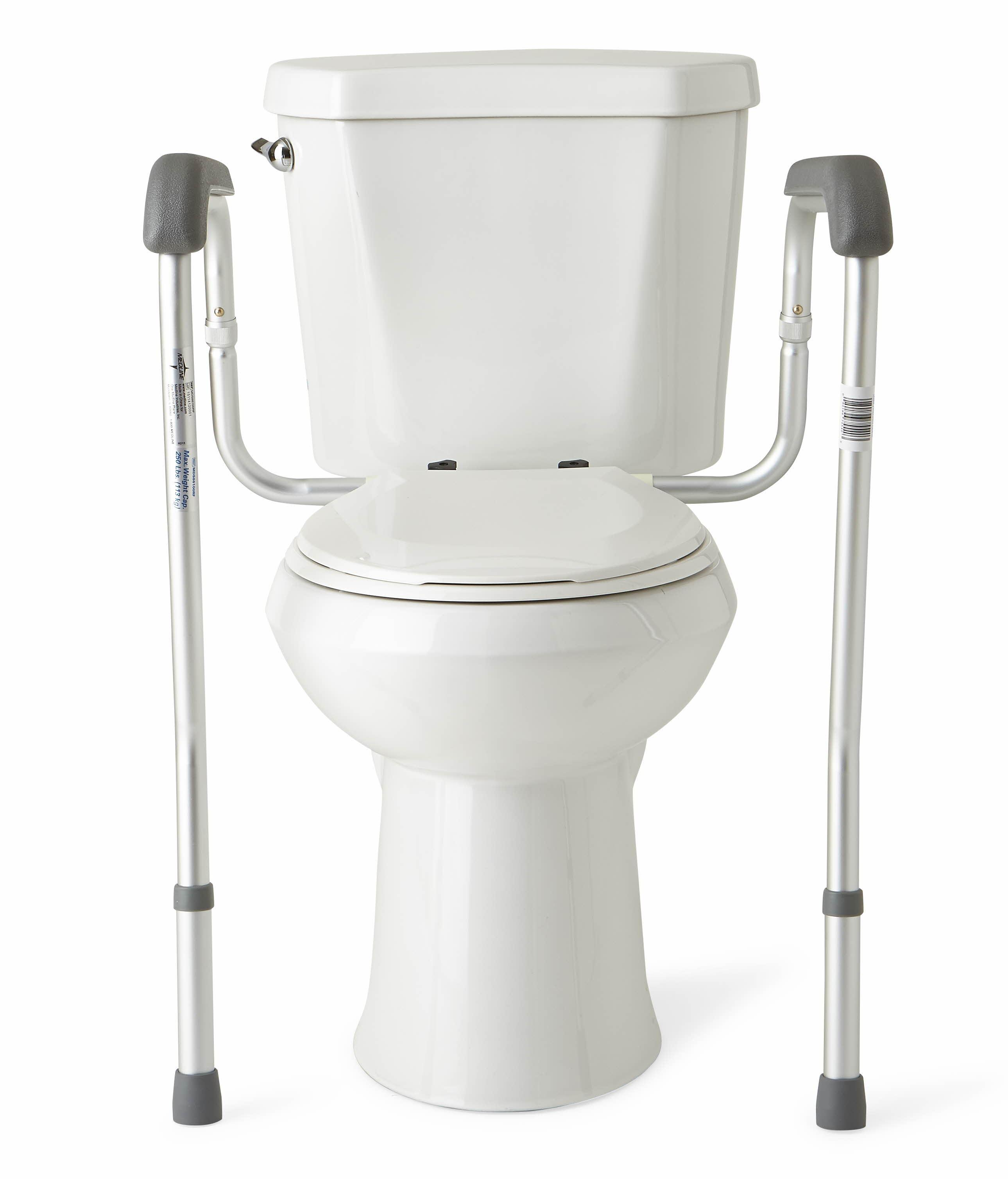 medline toilet safety rails health personal care