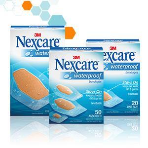 Waterproof, Bandages, Nexcare