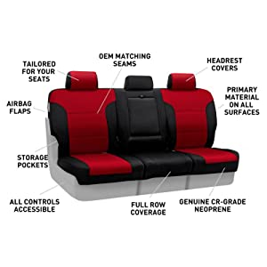 Coverking, Neoprene, water resistant, soft touch, durability, custom seat covers