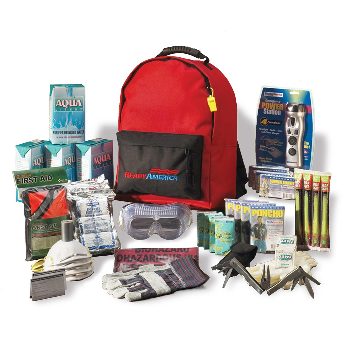 ready america 70385 deluxe emergency kit 4 person backpack residential solar power in durban south africa