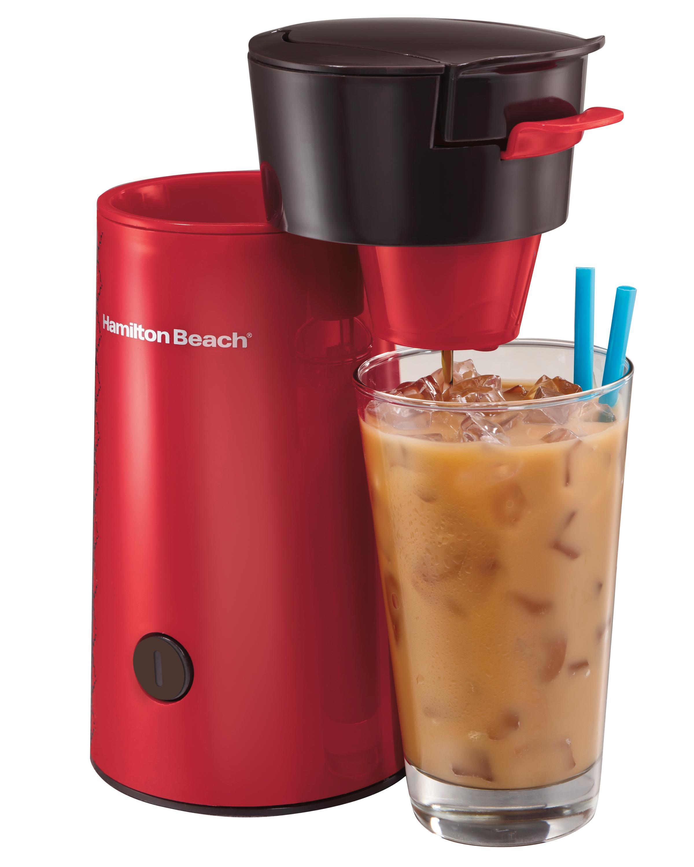 Best Coffee Maker Iced Coffee : Amazon.com: Hamilton Beach Iced Coffee Brewer, Red (40920): Electric Ice Tea Machines: Kitchen ...