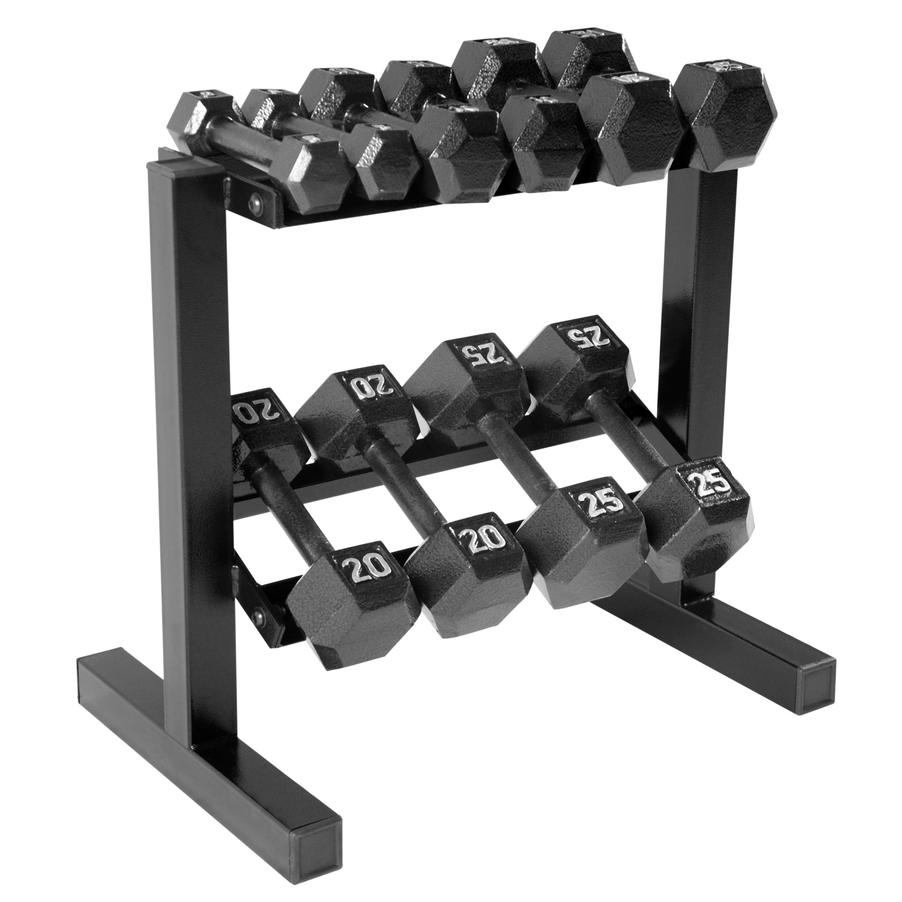 Amazon Com Cap Barbell Hex Dumbbell Set With Rack 150