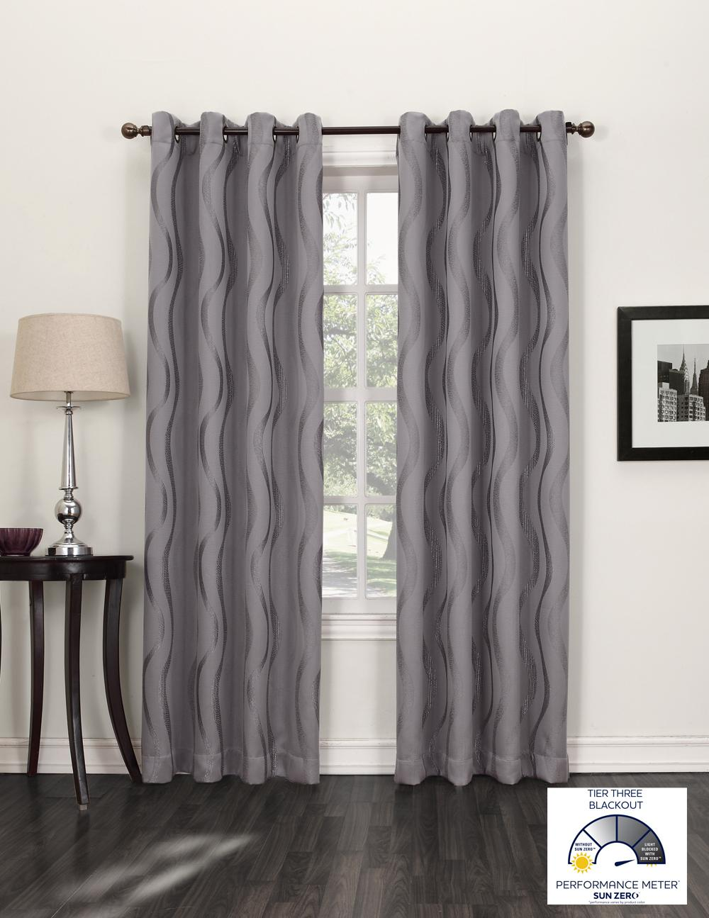 Sun Zero Travis Blackout Curtain Panel 52 By 95 Inch Ecru Home Kitchen