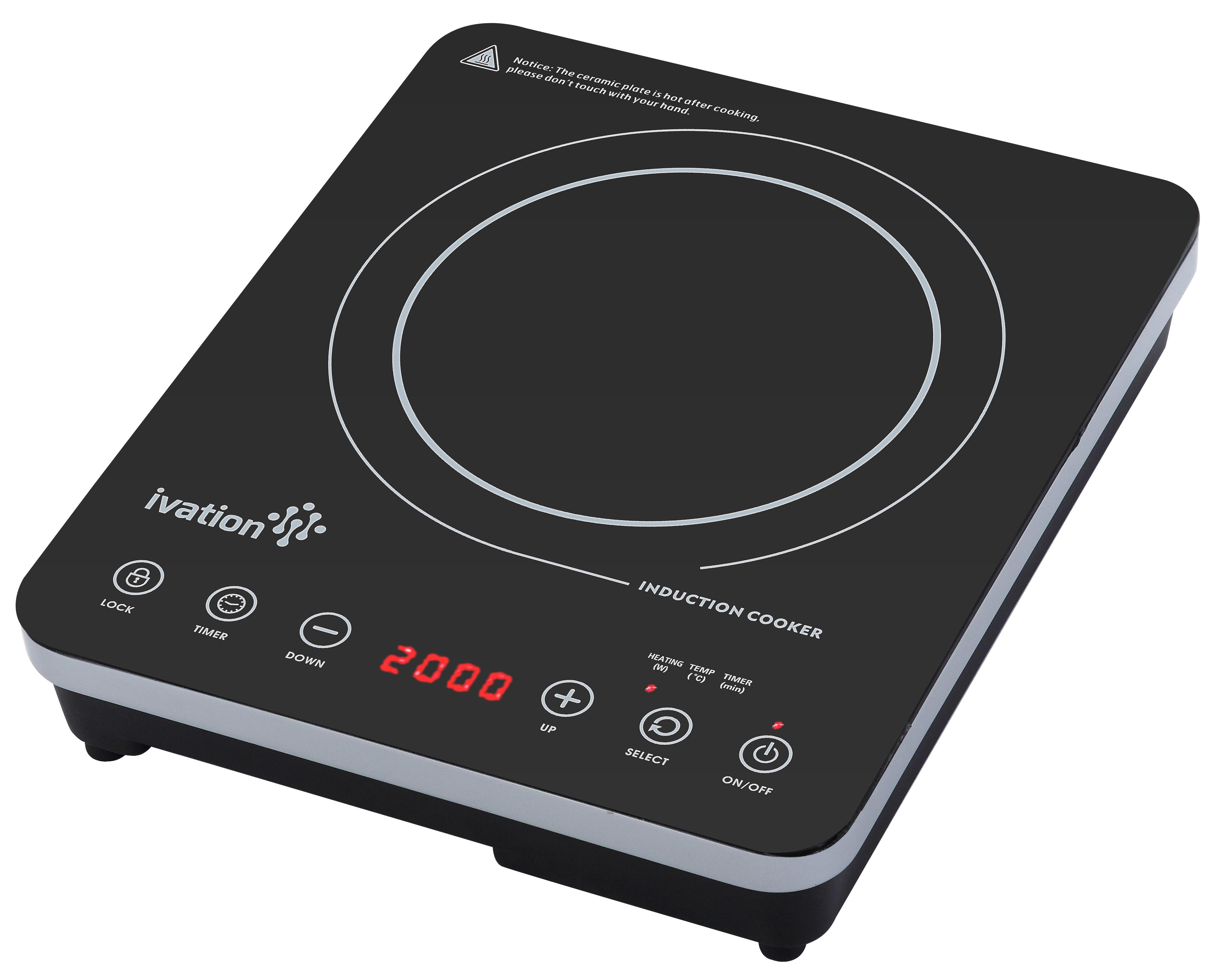 Electric Countertop Deep Fryer Portable Single Burner Hot Plate Stove ...