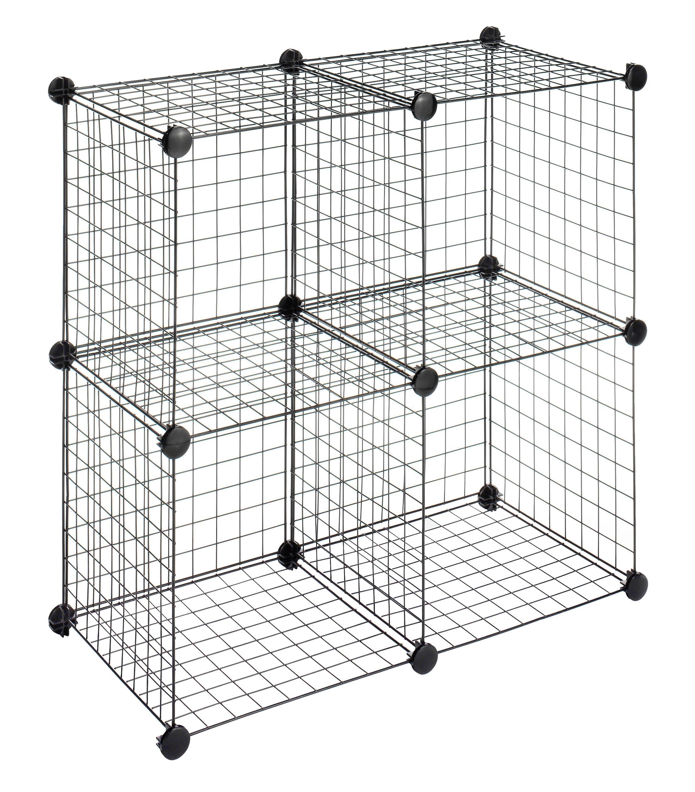 Whitmor 6070 1723 4 Storage Cubes Black