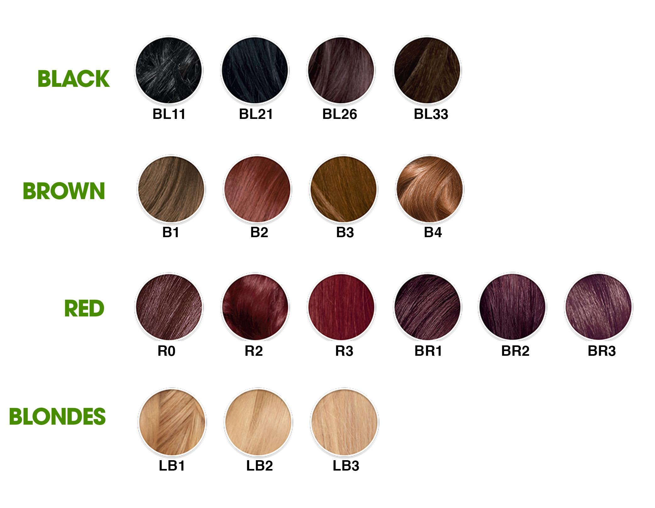 your shade hair color by the numbers ultra color ranges from black ...