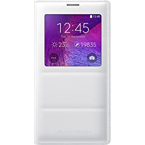 Samsung Galaxy Note 4 S-View Flip Cover (Frost White)