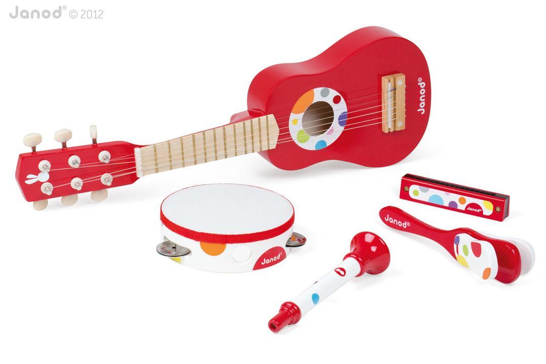 Benefits Musical Toys : Amazon janod guitar music set mixed toys games