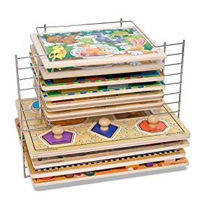 school, preschool, nursery, jigsaw, peg puzzles, chunky, jumbo knob, storage, toy box