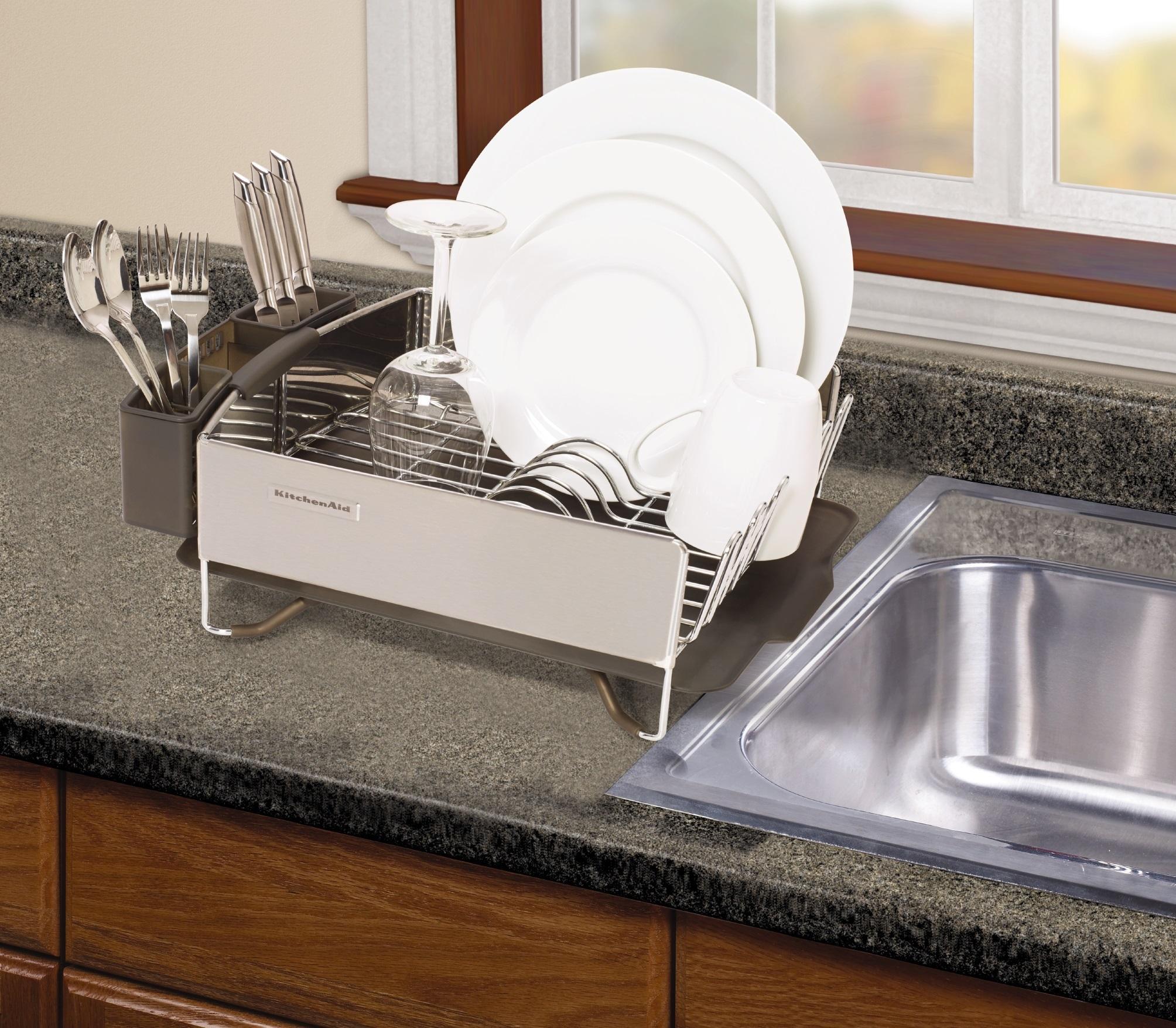 Amazon Com Kitchenaid Stainless Steel Panel Dish Rack