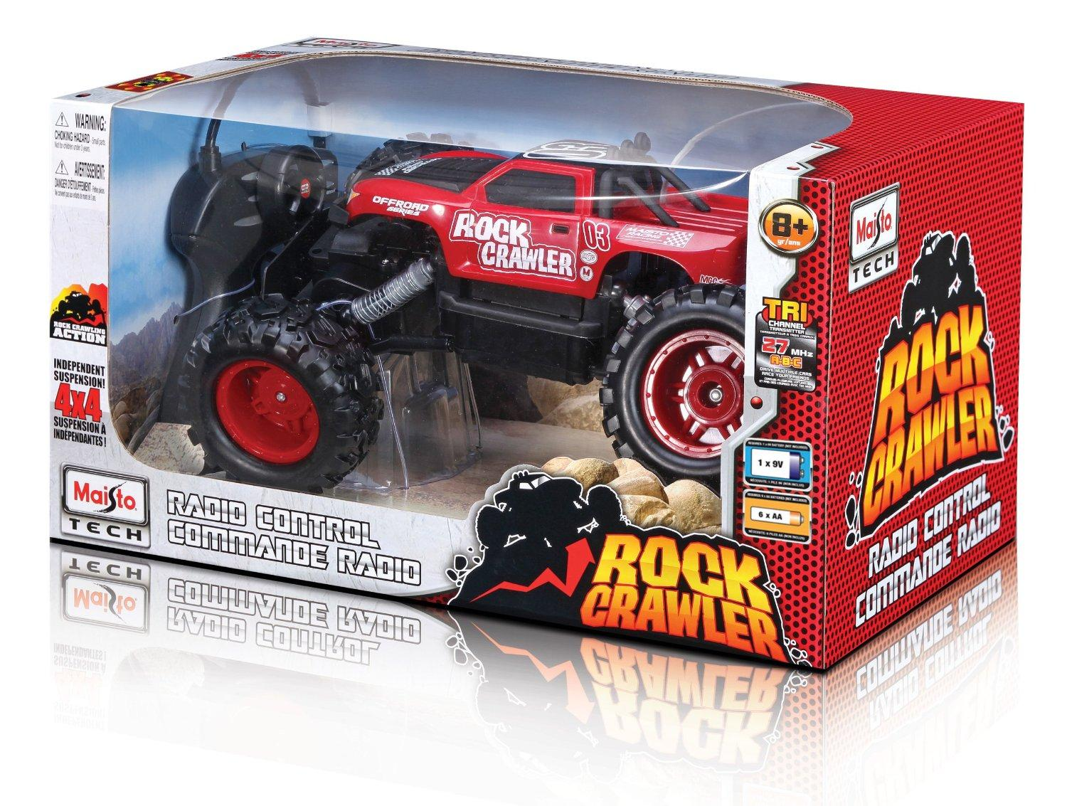 Amazon.com: Maisto R/C Rock Crawler Radio Control Vehicle (Colors May