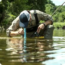 Lifestraw Personal Water Filter; ultralight and compact. Drink right from the nearest river or pond.
