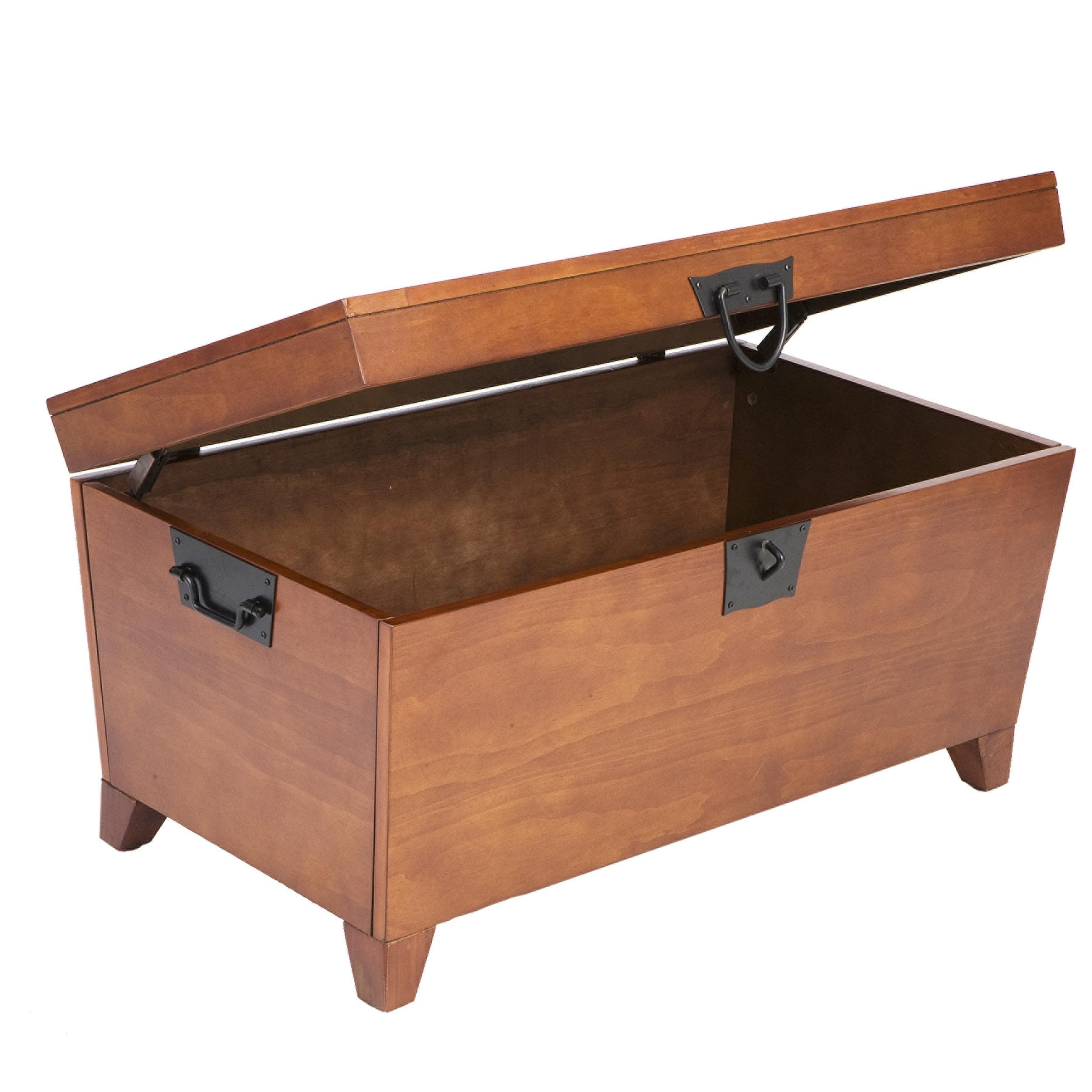 Sei pyramid trunk cocktail table end tables Trunk coffee tables
