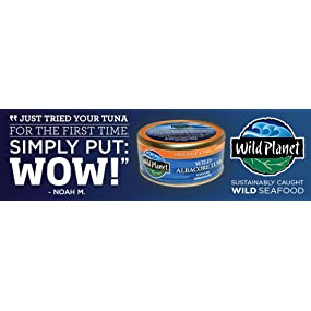 Non GMO, gluten free, tuna, troll caught, sustainable