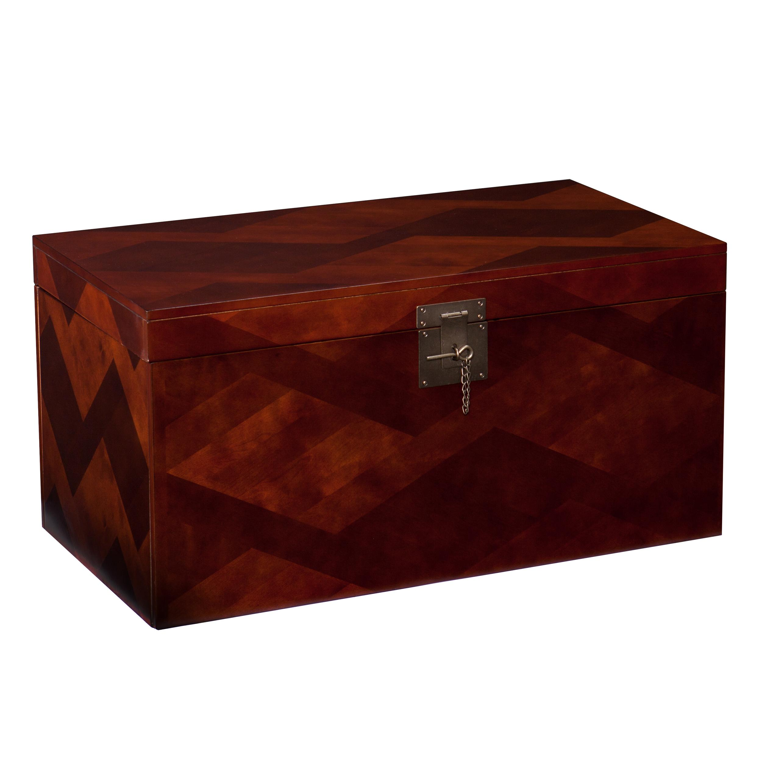 Cherry Wood Trunk Coffee Table: View Larger
